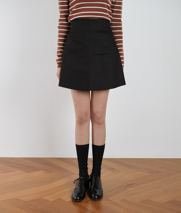 ESSAYHigh Waist A-Line Mini Skirt