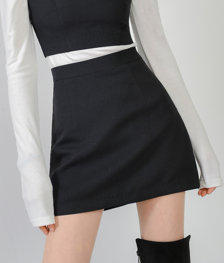 Solid Tone A-Line Mini Skirt