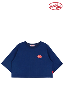 HEART CLUBCropped Boxy Logo T-Shirt
