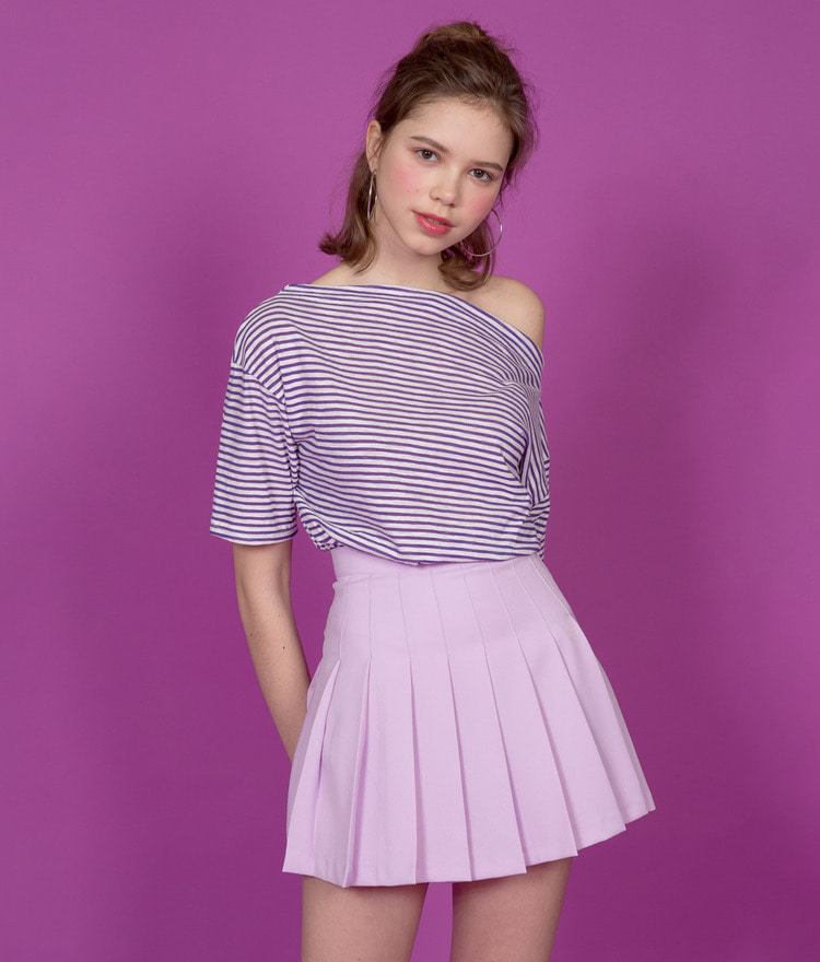 NEVERM!NDShort Sleeve Stripe T-Shirt