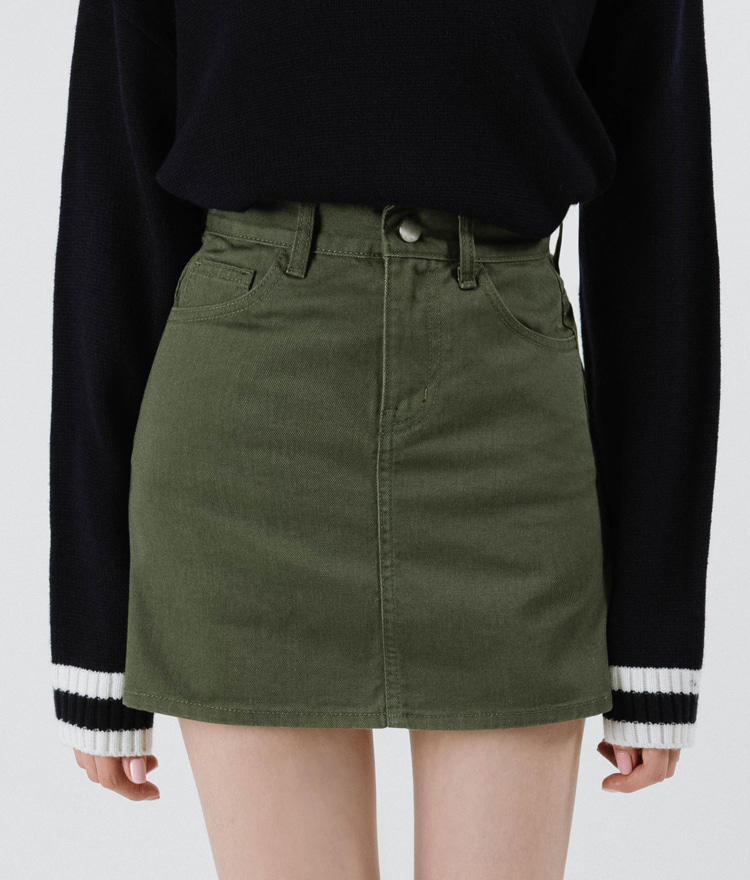 365BASICSolid Mini Skirt