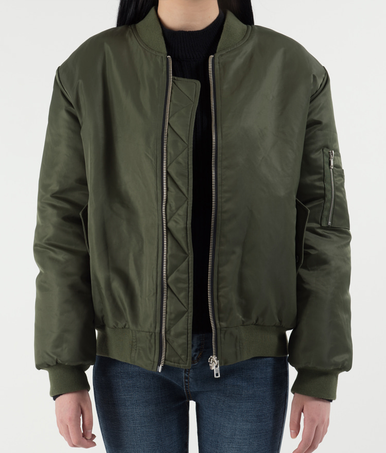 365BASICPocket Loose Fit Bomber Jacket