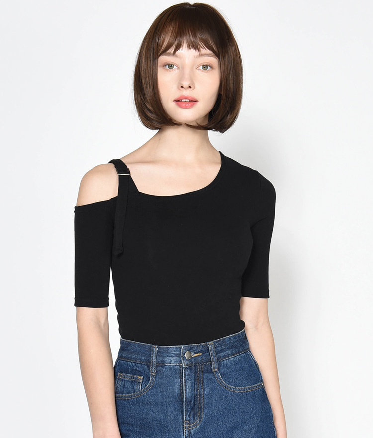 Buckled Cutout Shoulder Top