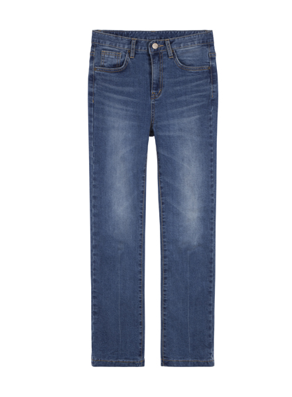 Faded Wash Flared Jeans