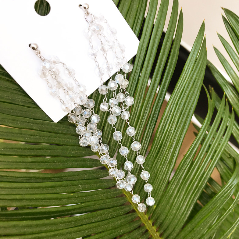 Withipun Multi Strand Crystal Drop Earrings