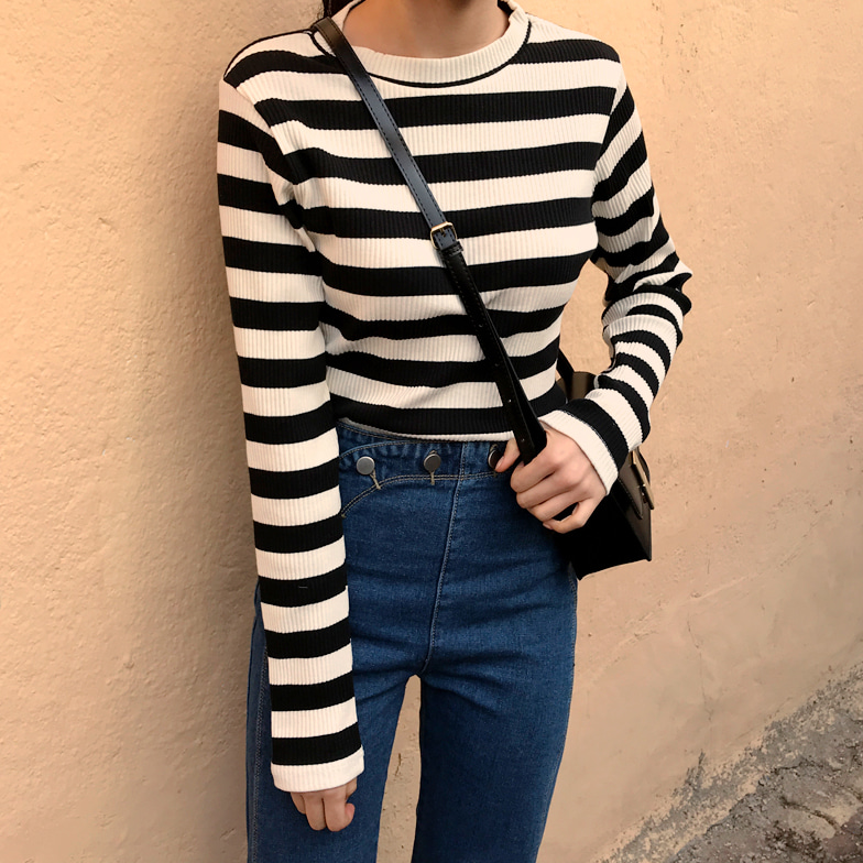 Withipun Round Neck Stripe T-Shirt