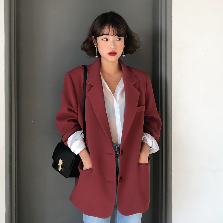Withipun Oversized Button-Up Blazer