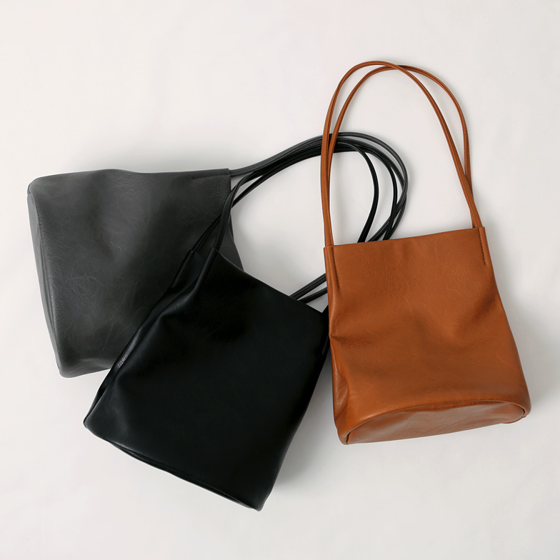 Withipun Faux Leather Square Tote Bag