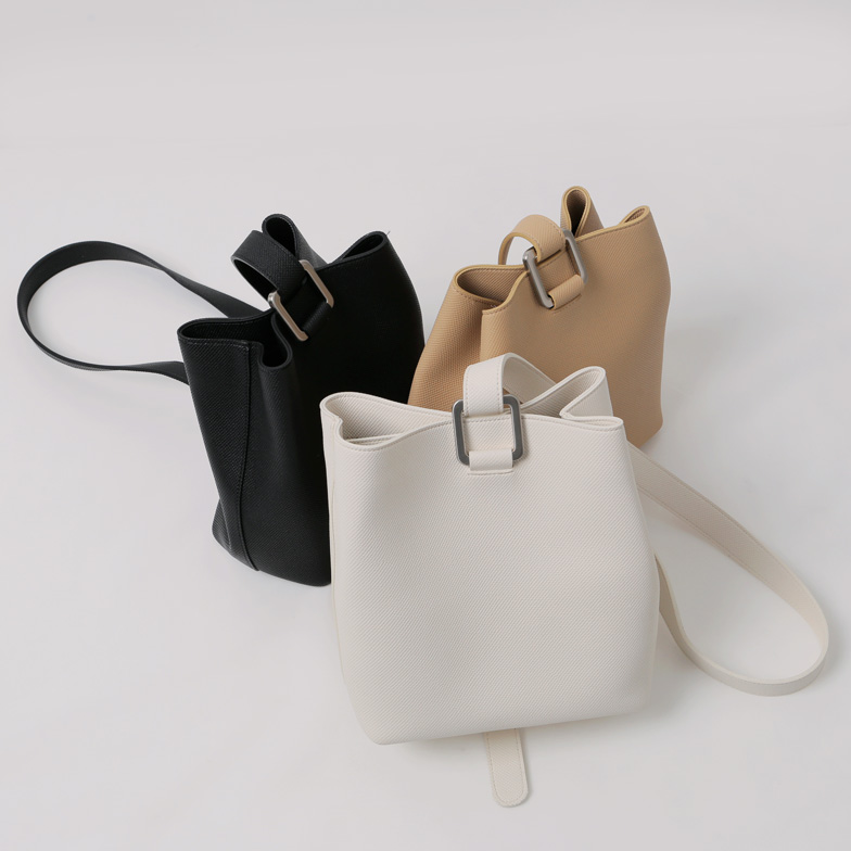 Withipun Magnetic Closure Buckled Crossbody Bag