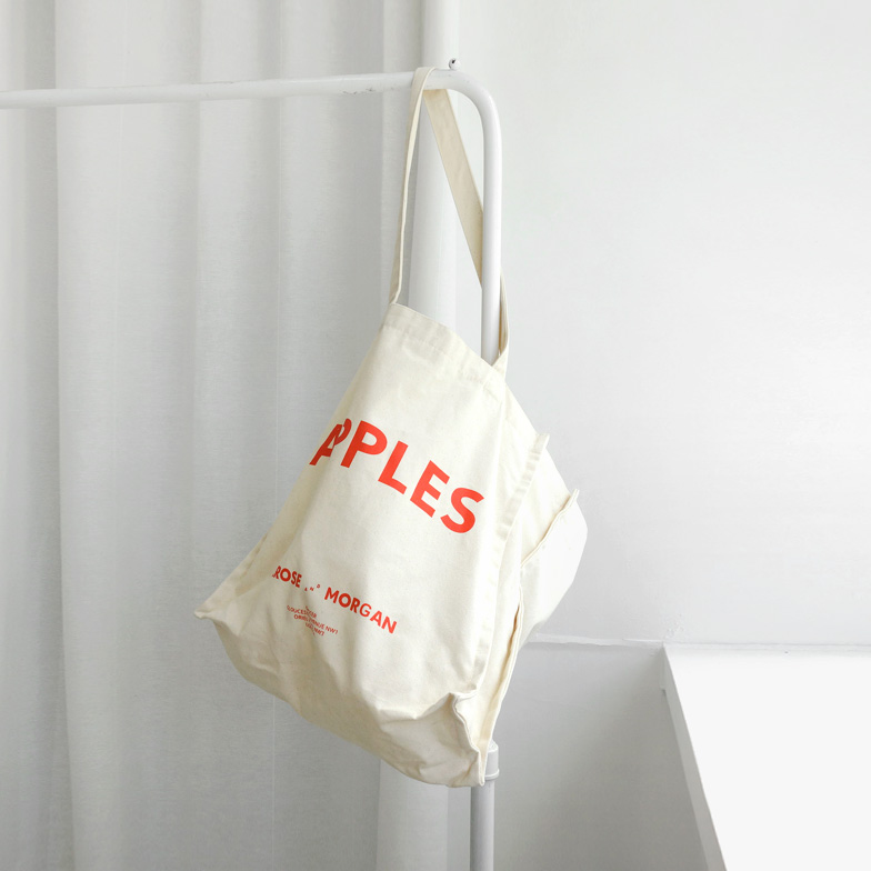 Withipun Lettering Print Tote Bag
