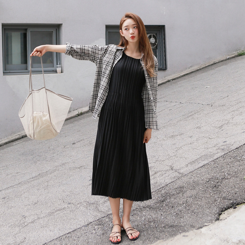 Withipun Point Collar Loose Fit Check Shirt