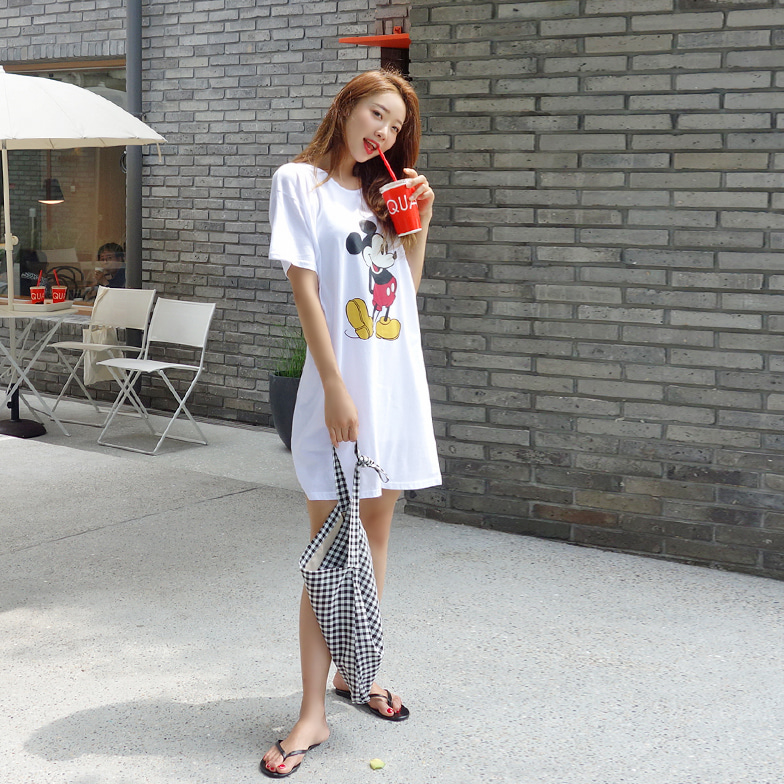 Withipun Short Sleeve Graphic Print Dress