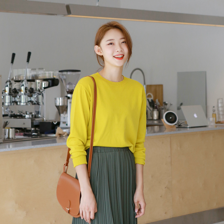 Withipun Round Neck Long Sleeve Knit Top