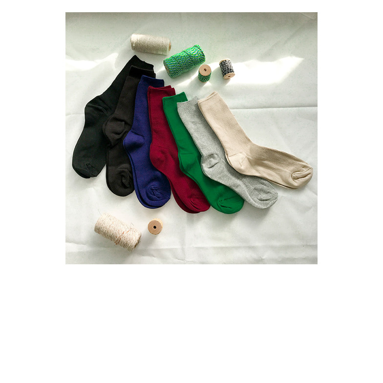 Withipun Solid Tone Ribbed Socks
