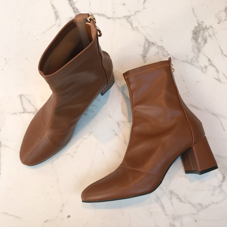 Withipun Back Zip Seam Ankle Boots
