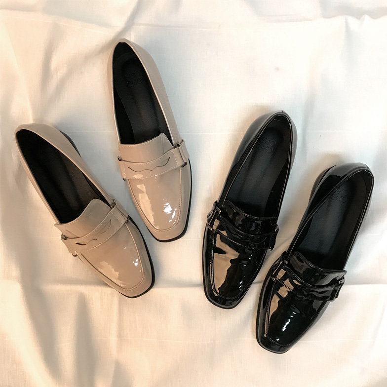 Withipun Faux Patent Leather Loafers