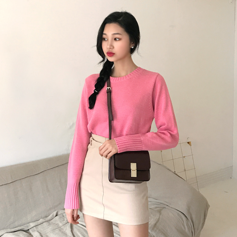 Withipun Ribbed Finish Loose Fit Knit Top