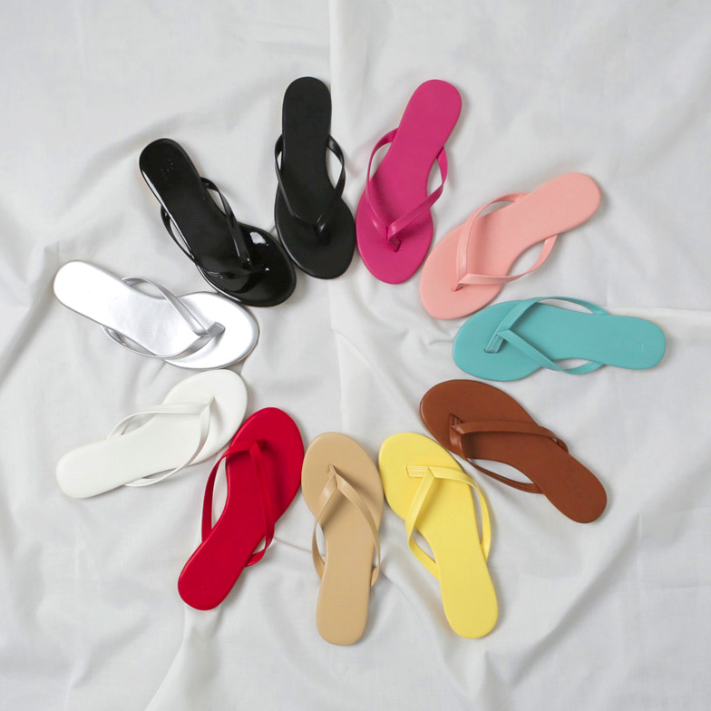 Withipun Solid Tone Flip Flops
