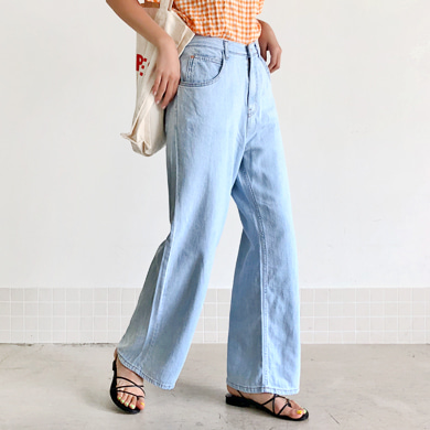 Withipun Contrast Stitch Straight Cut Jeans