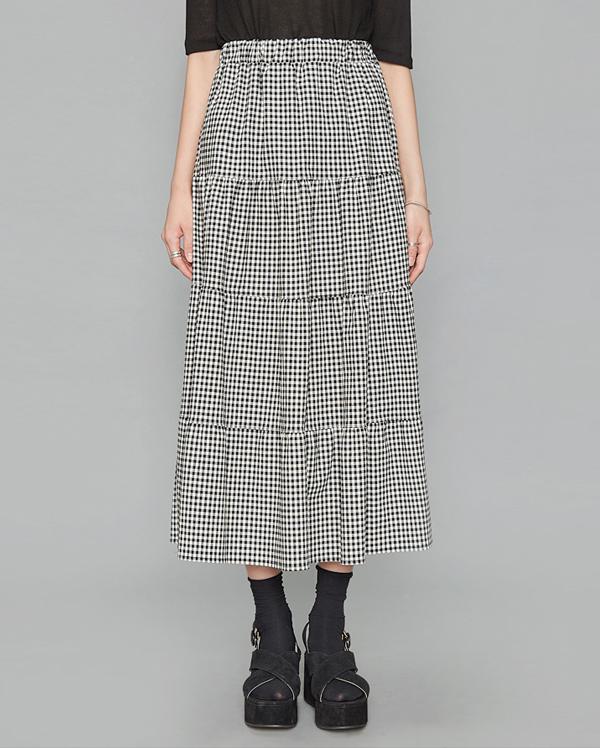 long check cancan skirt