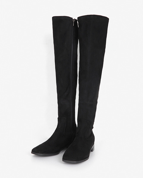 square knee high boots (2 colors)