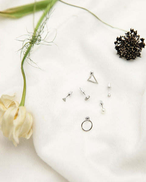small point earring 6 set