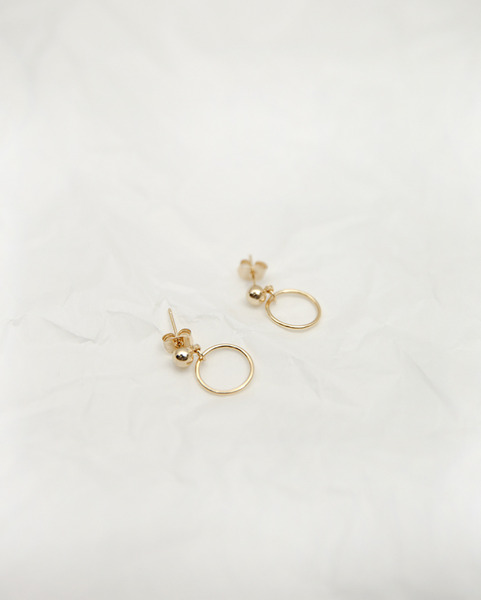 small ball ring earring