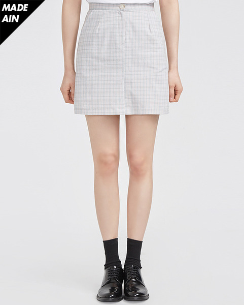 FRESH A linen check skirts