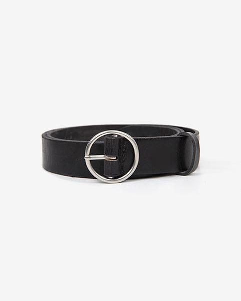 silver ring buckle belt