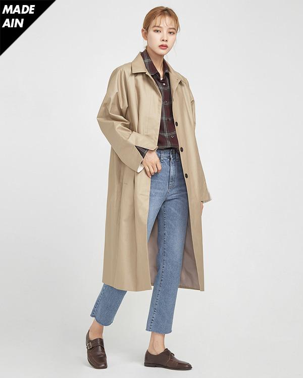 FRESH A single trench coat ( BEIGE )