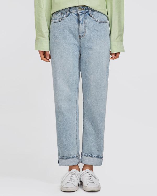 bright straight denim pants (s, m, l)