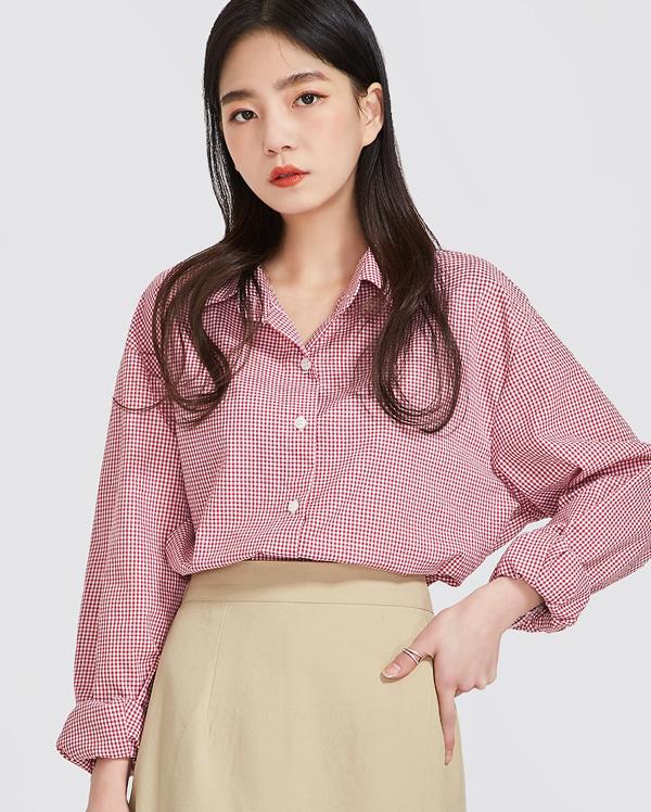 spring natural check shirts