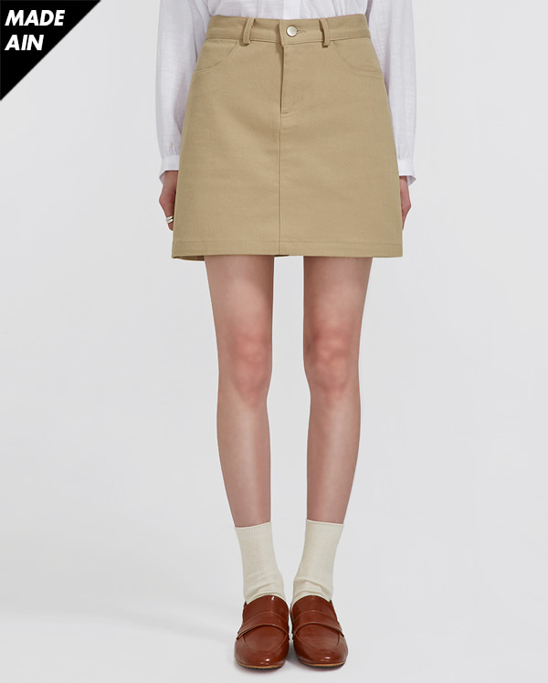 FRESH A basic cotton skirt (s, m)