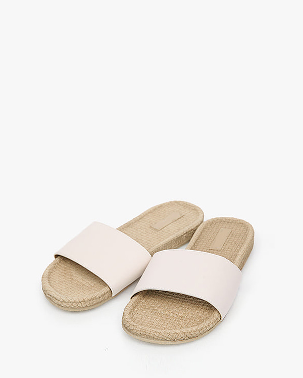 simple straw slipper