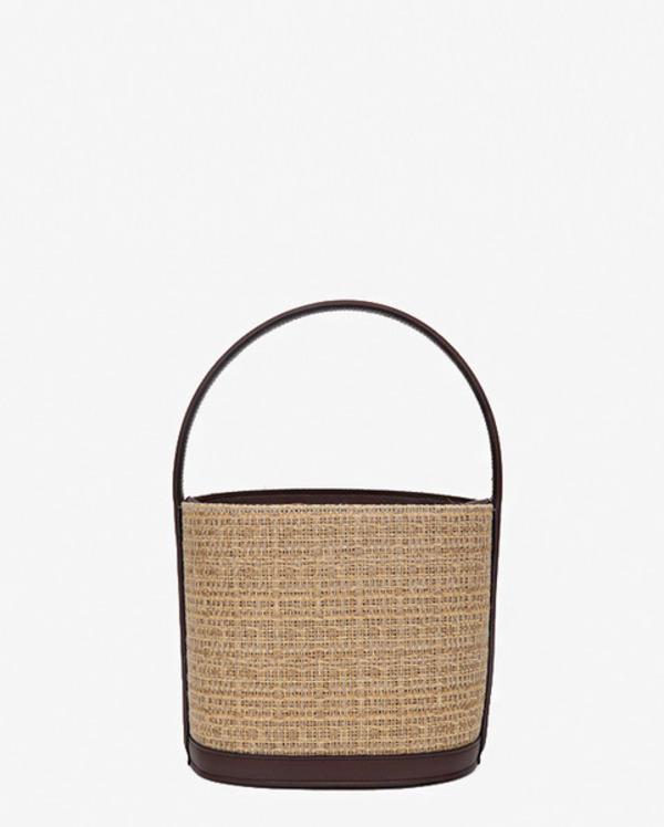 made circle rattan bag