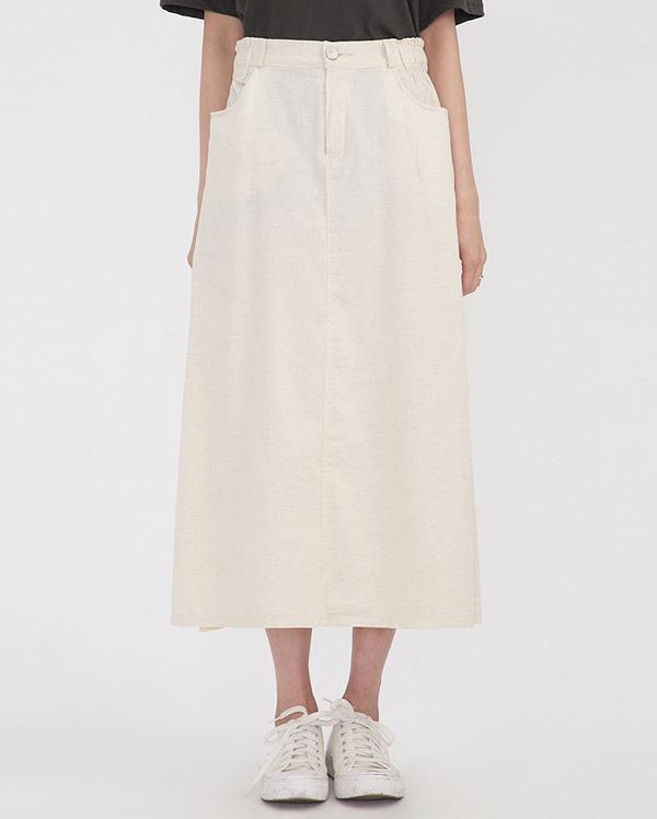 wide A-line long skirt
