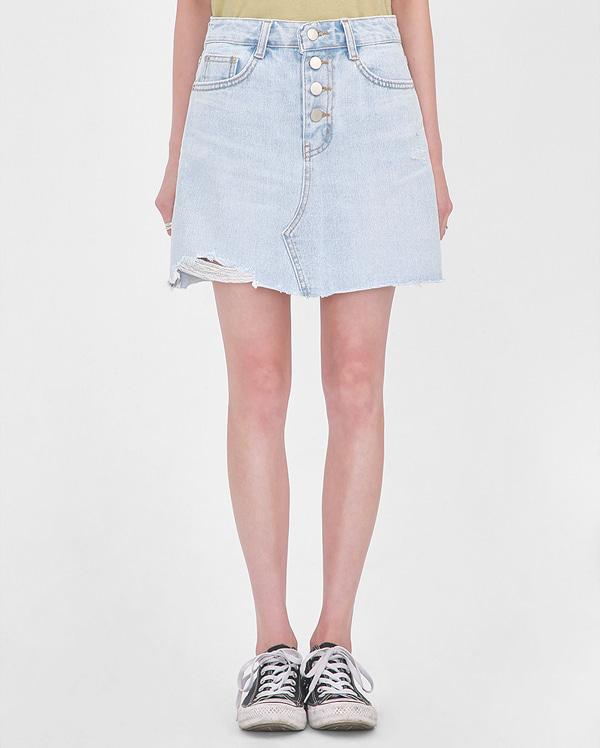 button cutting mini skirt (s-xl)