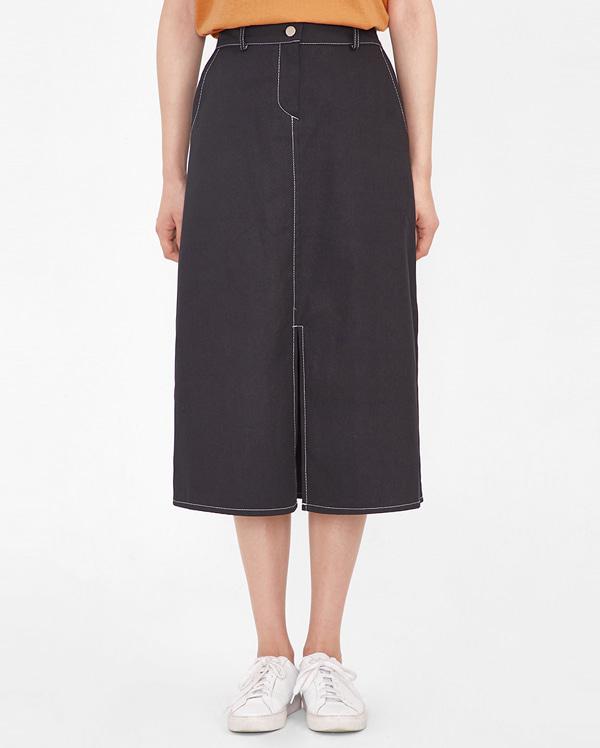 cony stitch midi skirt