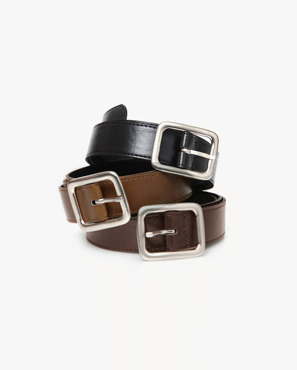 wide square point belt (4 colors)