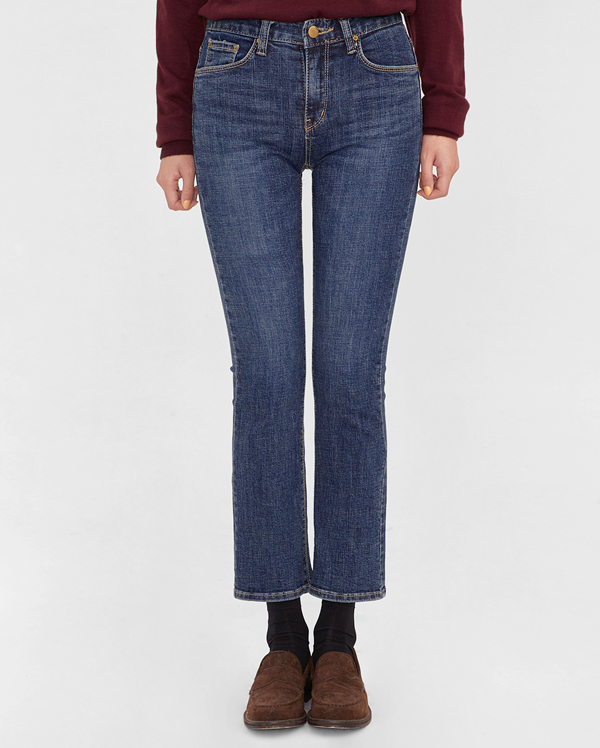 slim line denim pants (s, m, l)