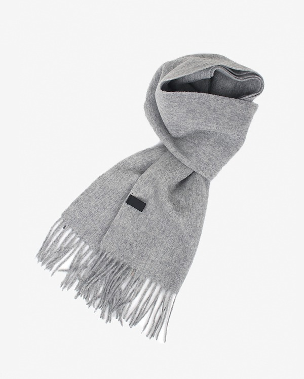 plain daily wool muffler