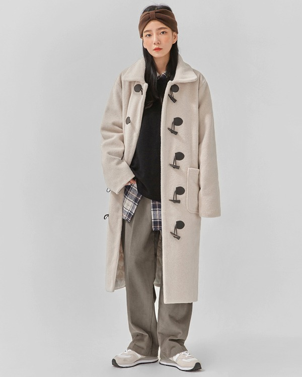 warm cozy napping duffle coat