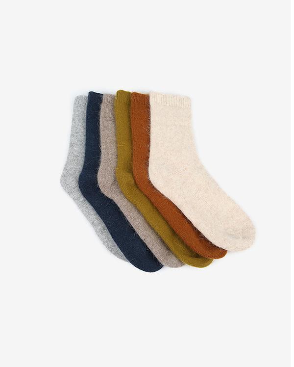 bow miji angora socks