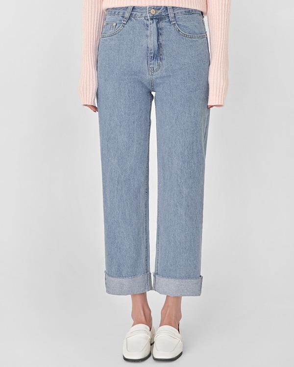 fresh straight denim pants (s, m, l)