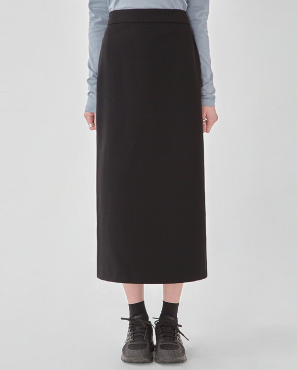 basic back long skirts (s, m)