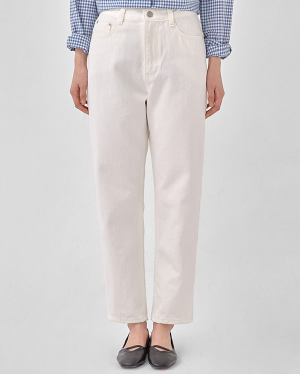 catch white cotton pants (s, m)