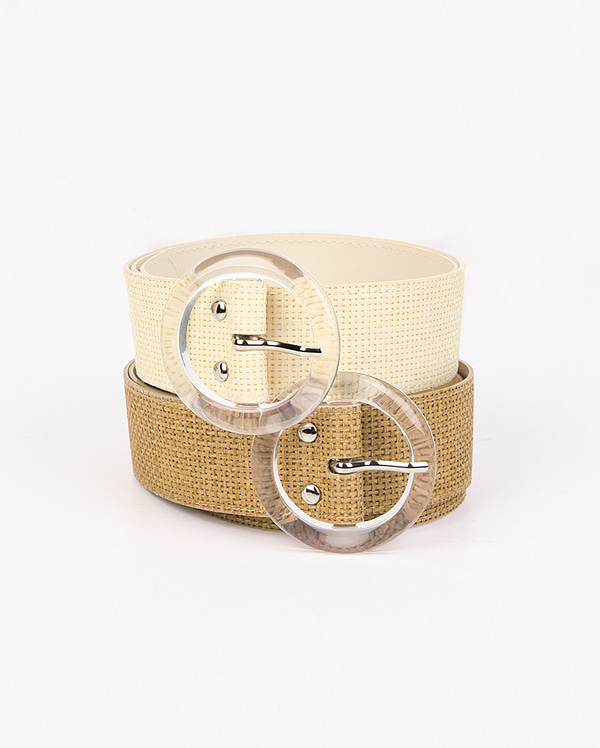 come trendy linen belt
