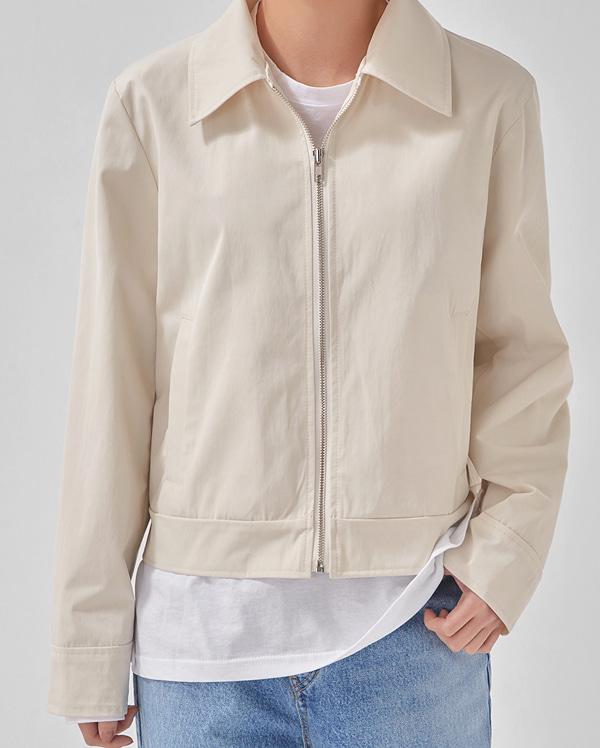 pale basic short jacket