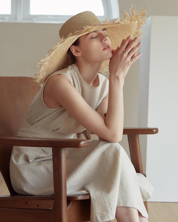 flow linen sleeveless ops