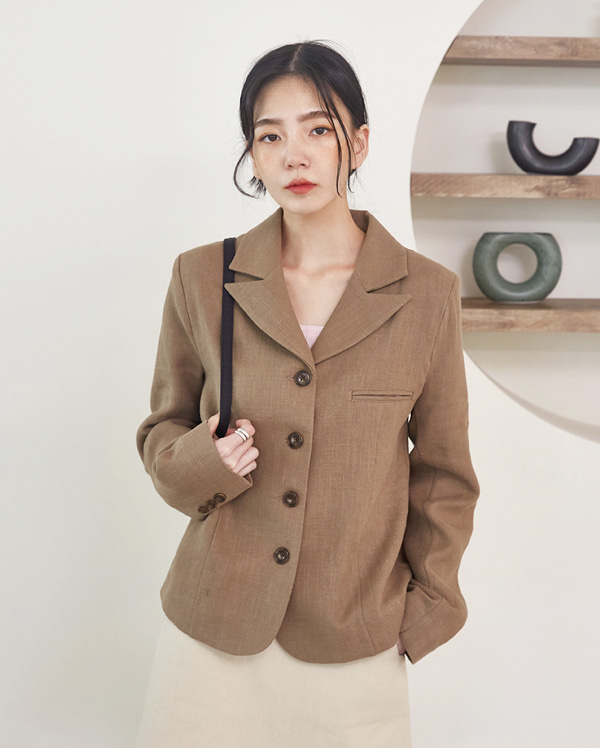maria linen short jacket